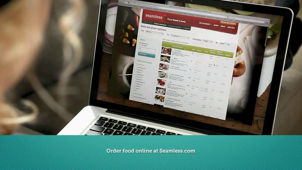 Seamless.com TV Spot, 'Food is Here' - Screenshot 7