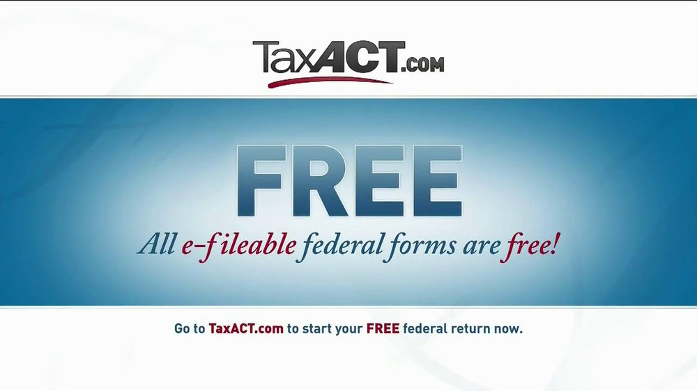 TaxACT TV Spot  ...H And R Block Tax Free Online