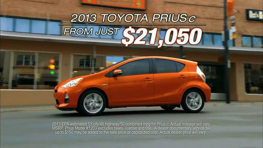 toyota prius tv commercial 39 look at that 39. Black Bedroom Furniture Sets. Home Design Ideas
