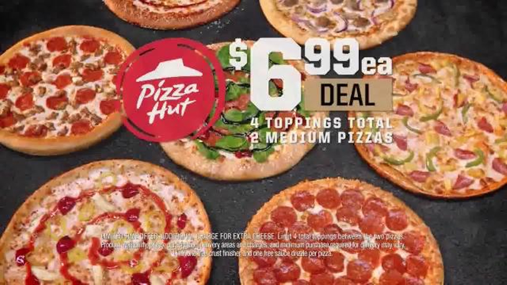 pizza hut 3 topping medium $6