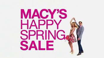 Macy's Happy Spring Sale TV Spot, 'Storewide Savings' thumbnail