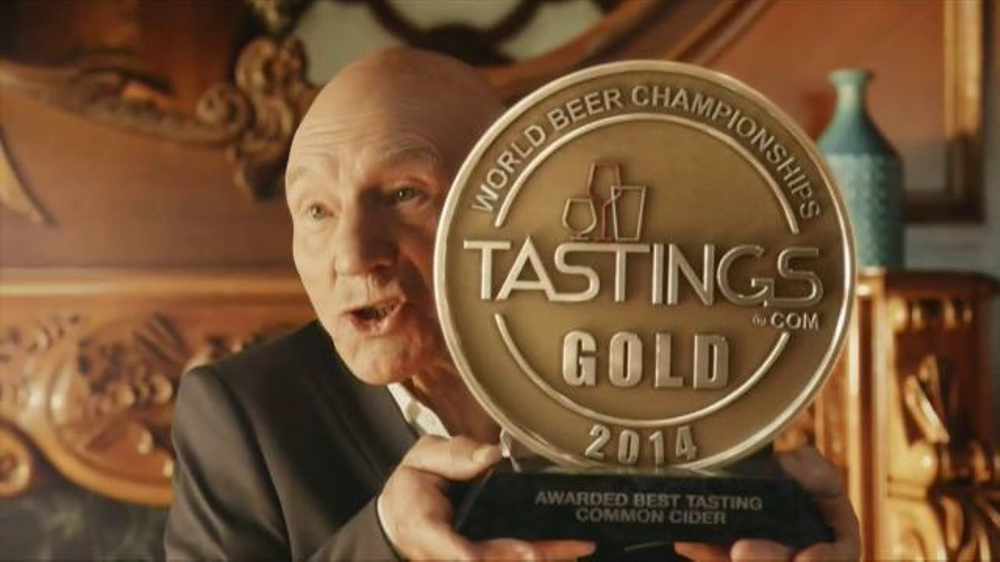 Strongbow Hard Cider TV Spot, 'Award' Featuring Patrick Stewart