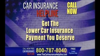 Car Insurance Helpline TV Spot, 'Lower Your Payment'