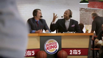 Burger King TV Spot, 'Sound Order' Featuring Seth Davis and Kenny Smith