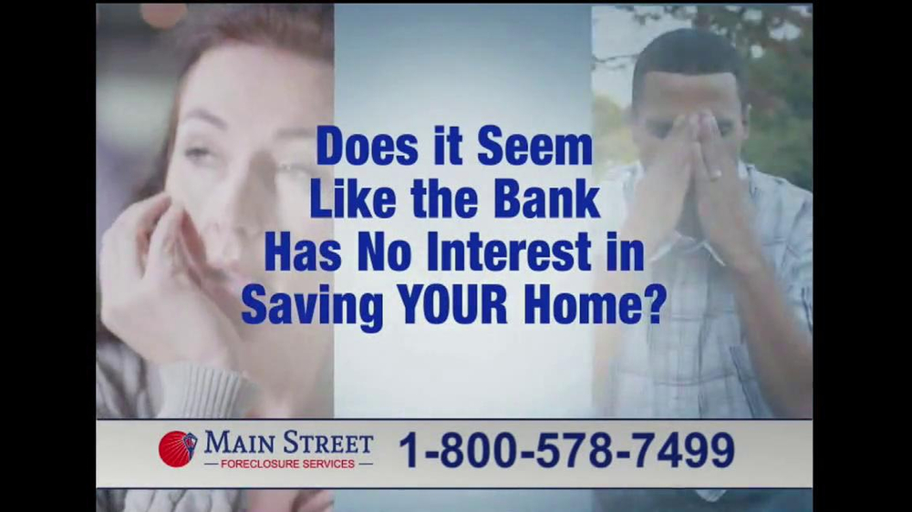 Main Street Foreclosure Services TV Spot - Screenshot 2