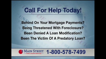 Main Street Foreclosure Services TV Spot - Thumbnail 5
