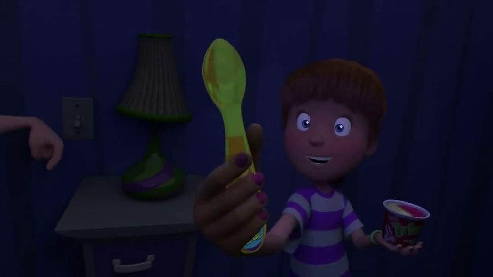 Trix Yogurt TV Spot, 'Light Up Spoons' - Screenshot 3