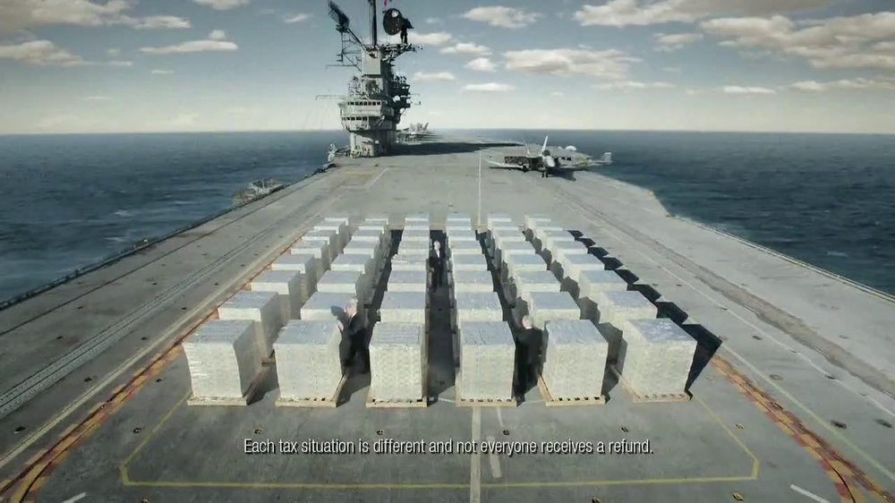 H&R Block TV Spot, 'Aircraft Carrier' - Screenshot 4