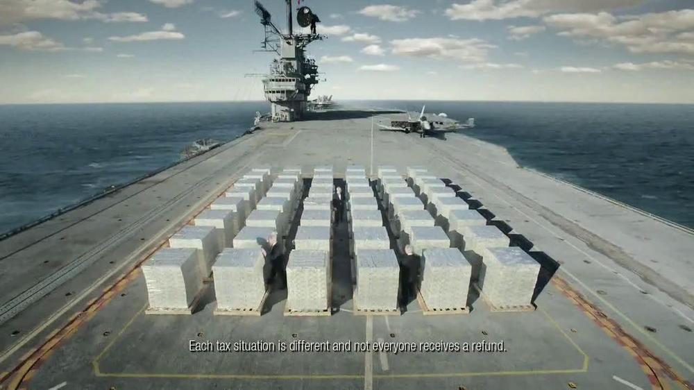 H&R Block TV Spot, 'Aircraft Carrier' - Screenshot 4