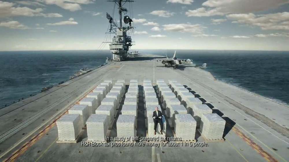H&R Block TV Spot, 'Aircraft Carrier' - Screenshot 9