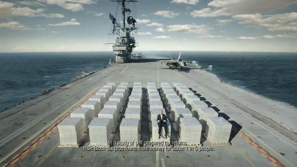 H&R Block TV Spot, 'Aircraft Carrier' - Screenshot 9