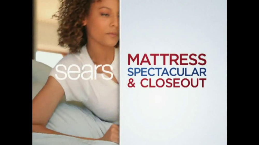 Sears Mattress Spectacular & Closeout TV Spot - Screenshot 5