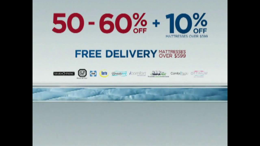 Sears Mattress Spectacular & Closeout TV Spot - Screenshot 6