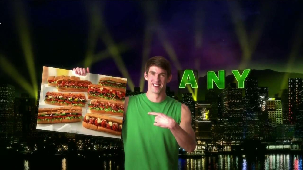 Subway TV Spot, 'JanuANY' Con Pelé y Michael Phelps - Screenshot 2