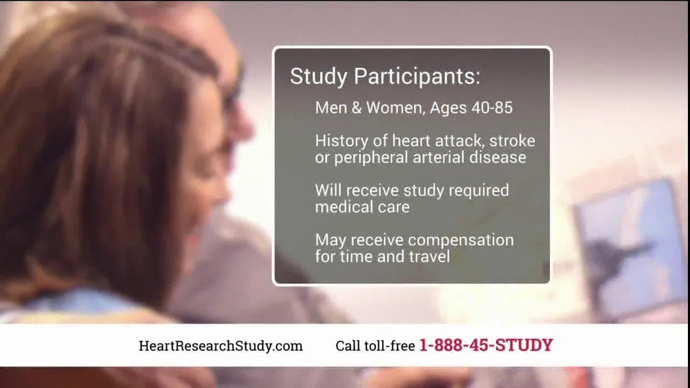 Heart Research Study TV Spot, 'Investigational Medication' - Screenshot 7