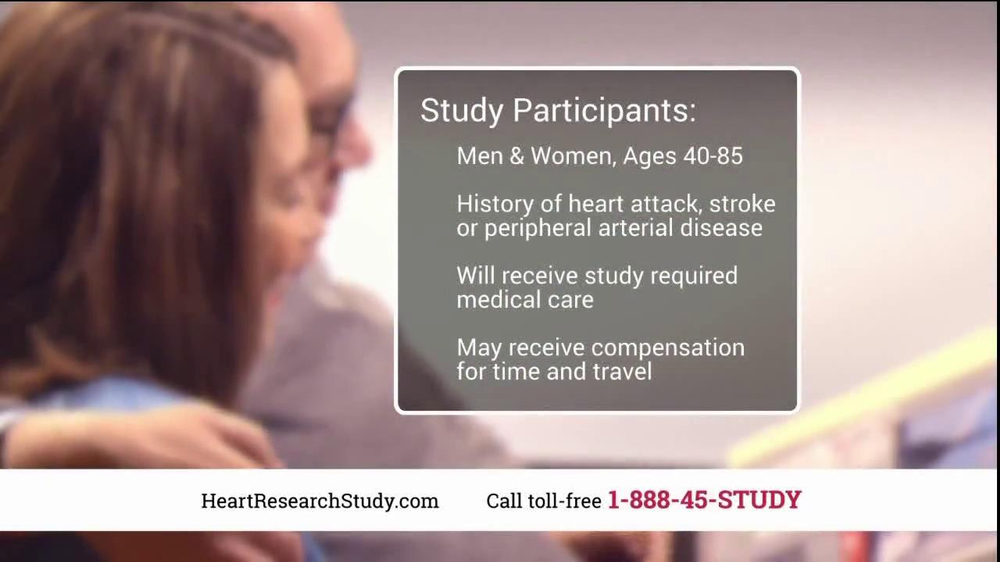 Heart Research Study TV Spot, 'Investigational Medication' - Screenshot 8