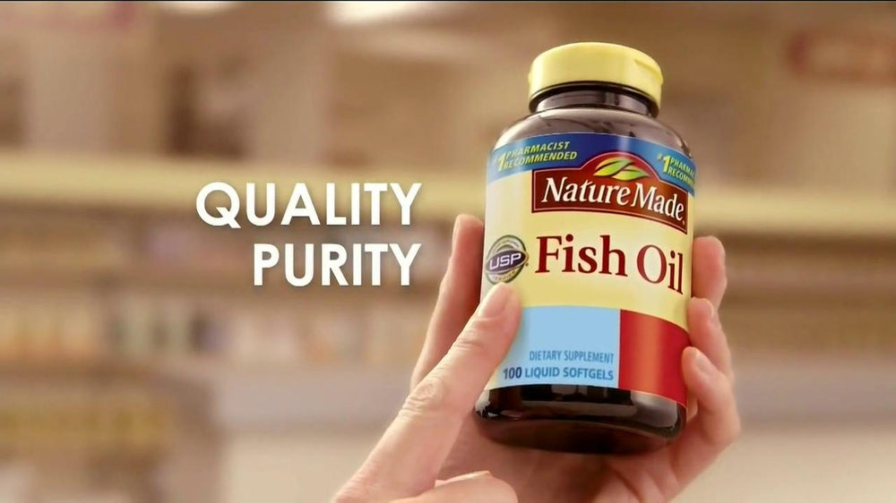 Pharmacist tv commercials for Fish oil recommendations