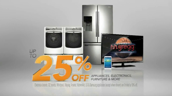 H.H. Gregg 25 Percent Off Sale TV Spot