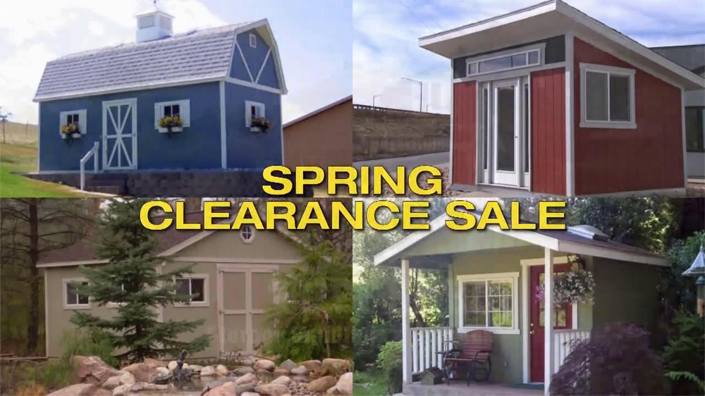 Tuff shed tv commercial 39 spring clearance sale 39 for Tough shed sale