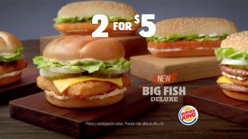 Burger King Big Fish Deluxe TV Spot [Spanish]