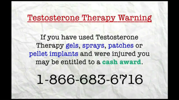 AkinMears TV Spot, 'Testosterone Therapy Warning'