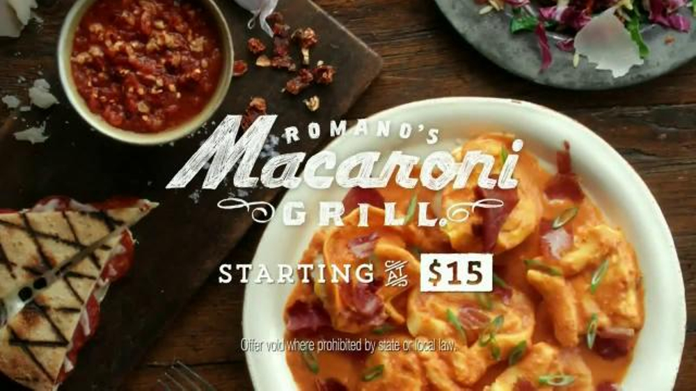 Romano's Macaroni Grill Original Recipe Chef's Tasting Menu TV Spot - Screenshot 9