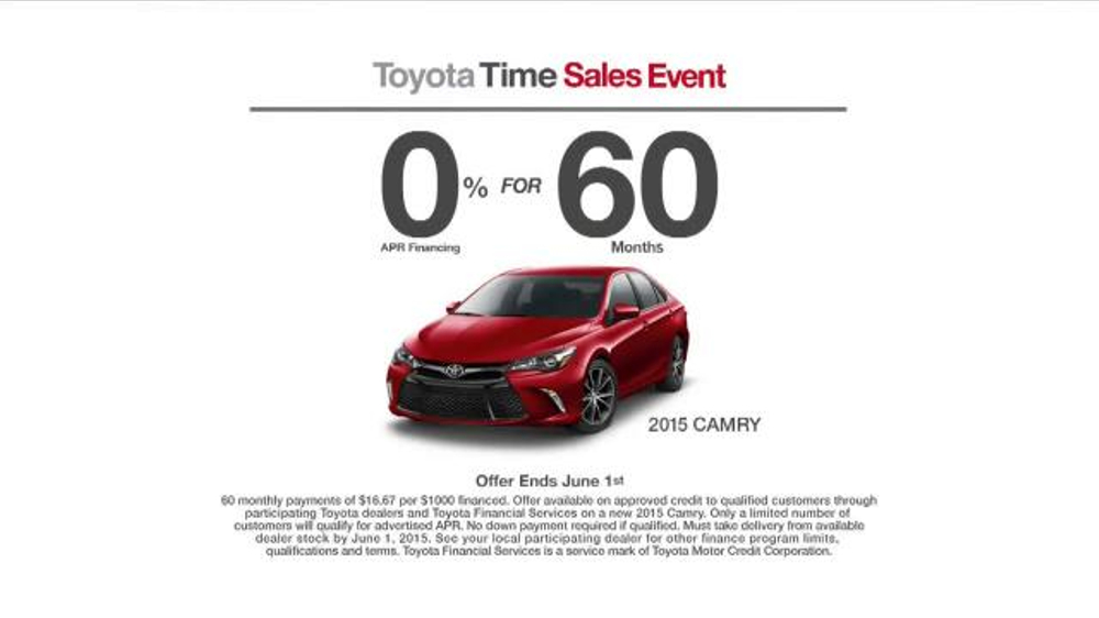 2015 toyota camry tv commercial 39 toyota time sales event 39. Black Bedroom Furniture Sets. Home Design Ideas