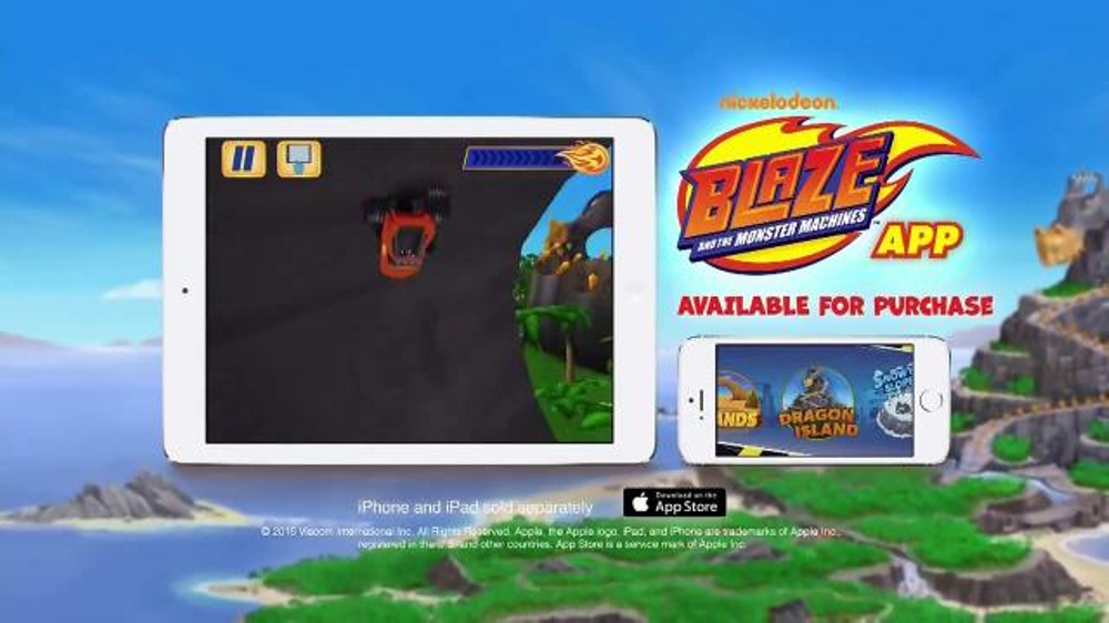 Nickelodeon blaze and the monster machines app tv spot new features