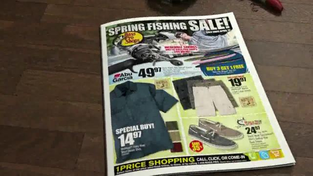 Bass pro shops spring fishing sale tv spot 39 bait shoes for Bass pro fishing sale