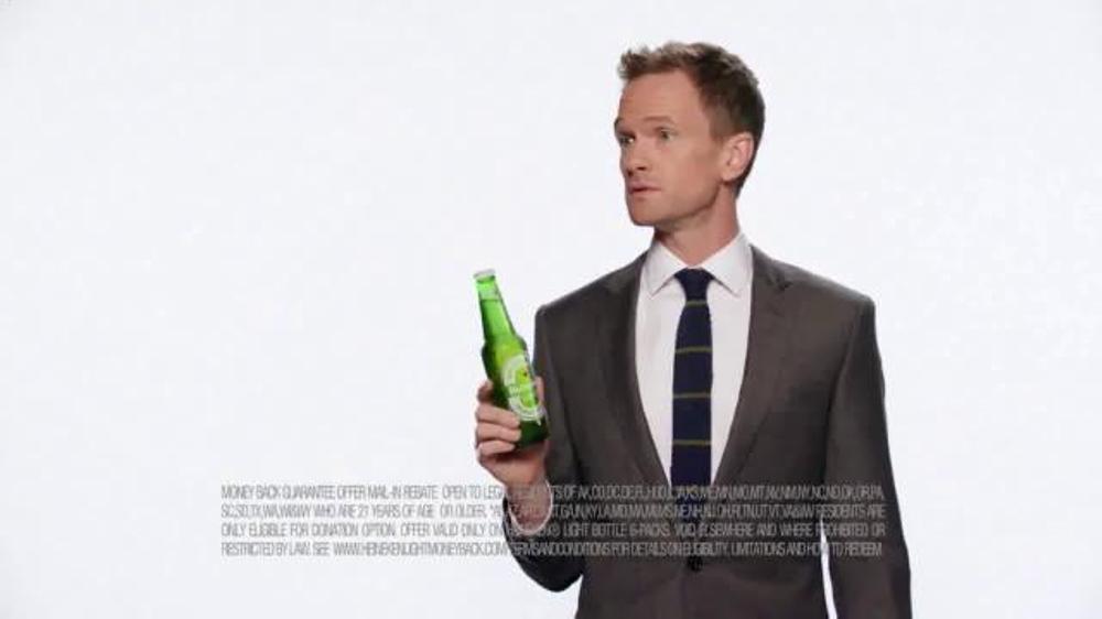 Heineken Light TV Spot, 'Money Back' Featuring Neil Patrick Harris