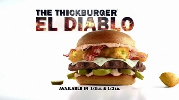 Carl's Jr. El Diablo TV Spot, 'Warning: This Lava Bomb is Nuclear'