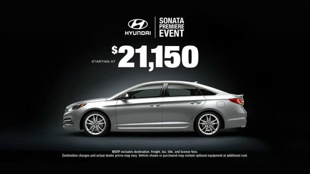 Hyundai Sonata Premiere Event Tv Commercial Ispot Tv
