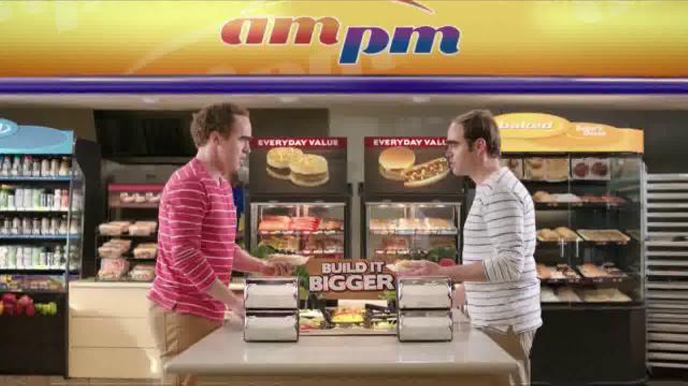 Ampm cheddarwurst smoked sausage tv commercial 39 nothing in common 39 - Ampm meuble tv ...
