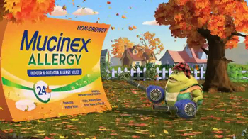 Mucinex Allergy TV Spot, 'Leaf Blower'