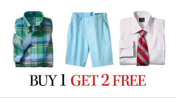 JoS. A. Bank Buy 1 Get 2 Free TV Spot