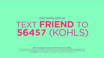 Kohl's Back to School Sale TV Spot, 'Text Friend'