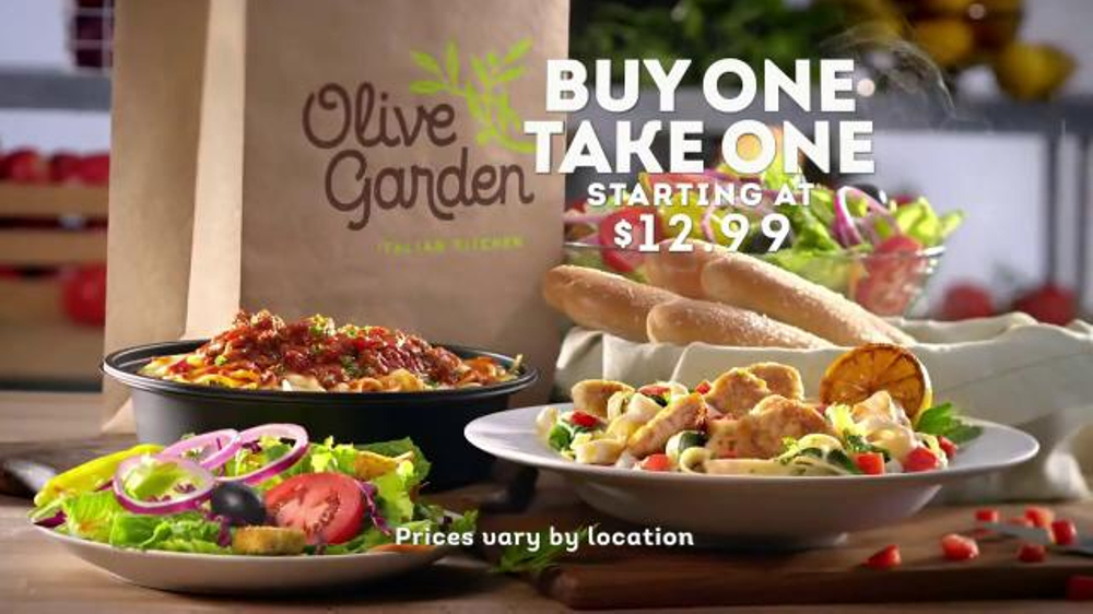 Olive Garden Tv Spot 39 Buy One Take One For Later 39