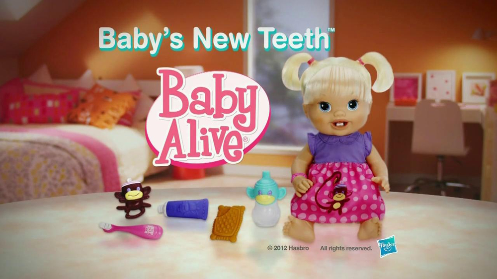 Hasbro TV Commercial For Baby Alive: Baby's New Teeth ...  |Baby Alive New Teeth