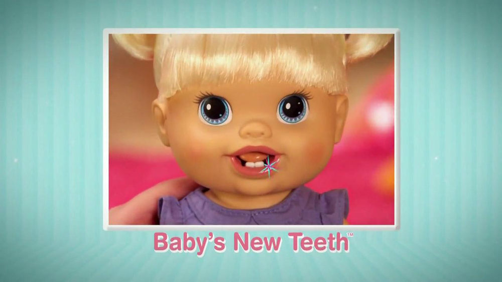 NEW Baby Alive Baby's New Teeth Doll Blonde GR8 GIFT ...  |Baby Alive New Teeth