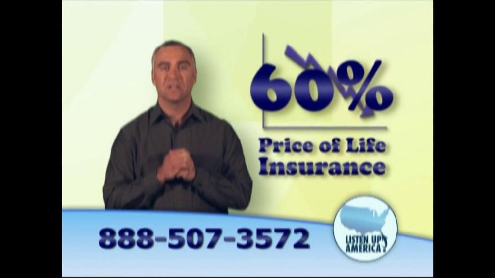 Listen Up America TV Spot, 'Life Insurance Policies' - Screenshot 2