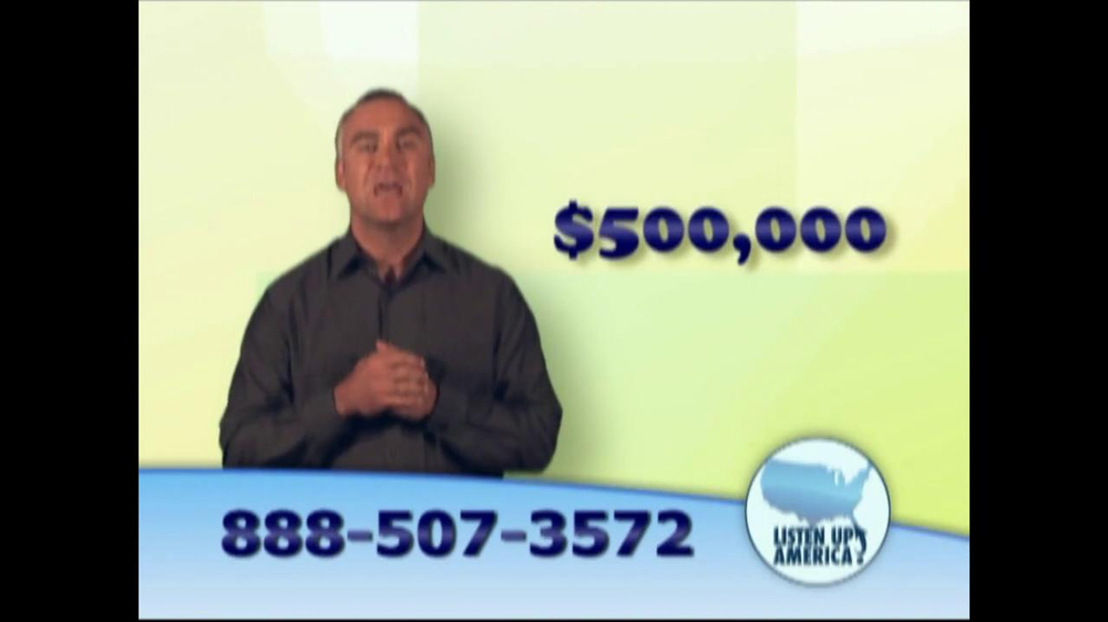 Listen Up America TV Spot, 'Life Insurance Policies' - Screenshot 5