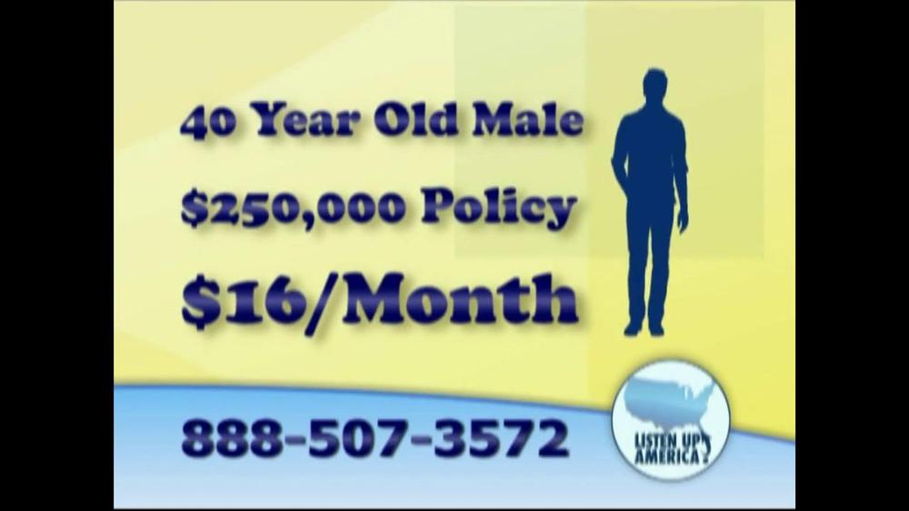 Listen Up America TV Spot, 'Life Insurance Policies' - Screenshot 8
