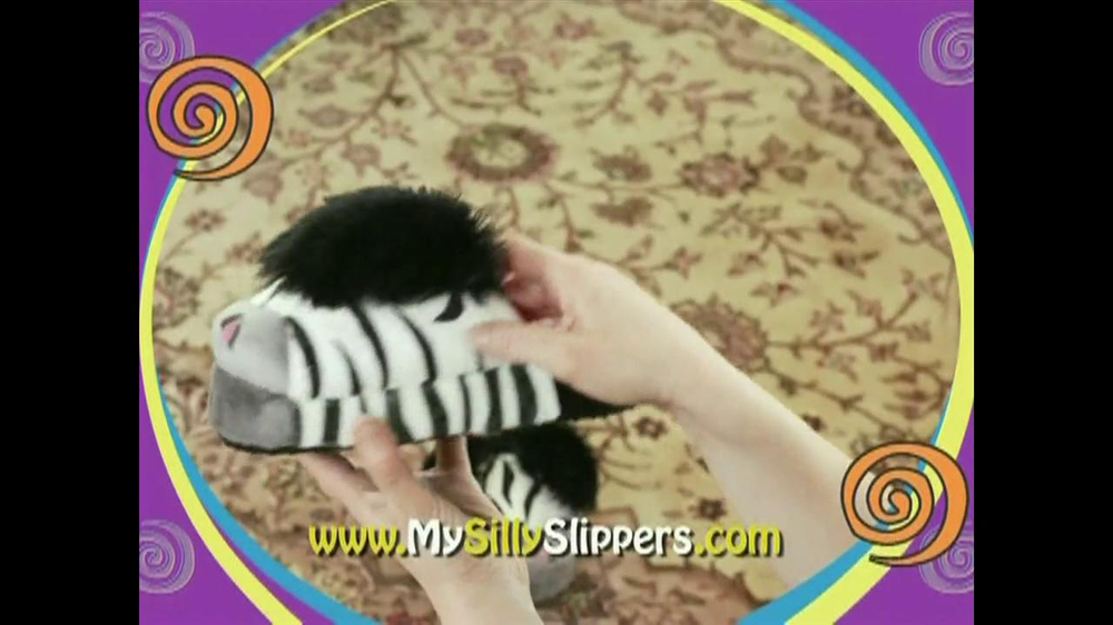 Silly Slippeez TV Spot for Slippers That Pop To Life - Screenshot 6
