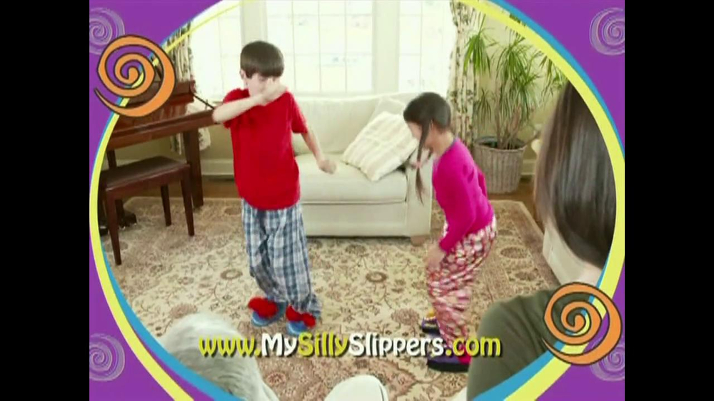 Silly Slippeez TV Spot for Slippers That Pop To Life - Screenshot 9
