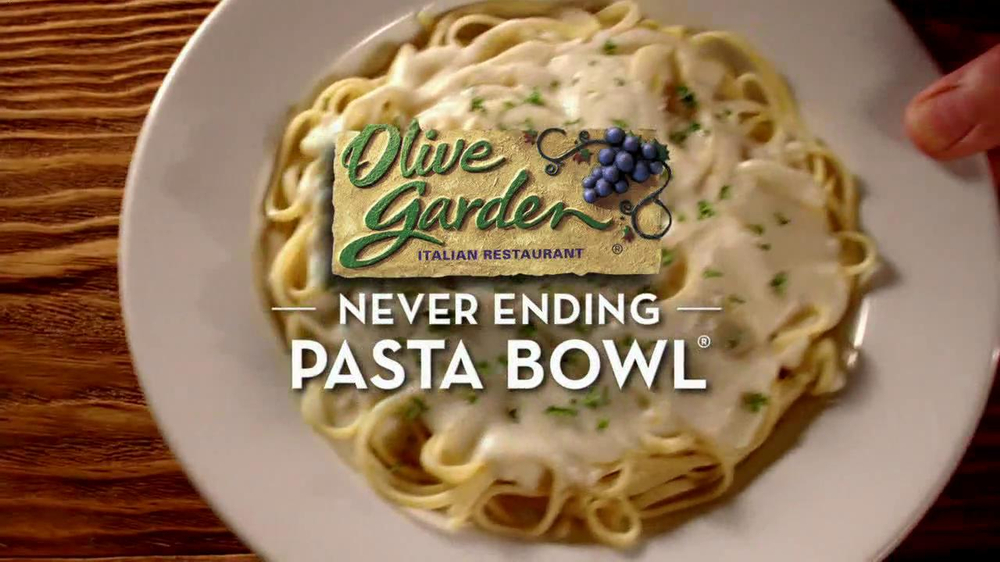 Olive garden tv commercial for never ending pasta bowl for Olive garden endless pasta bowl