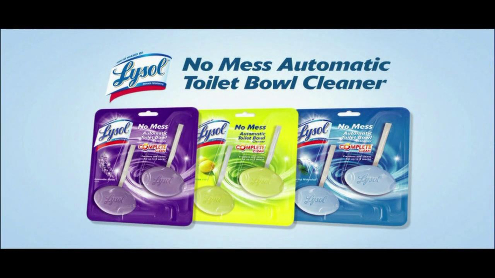 Lysol Tv Commercial For No Mess Automatic Toilet Bowl