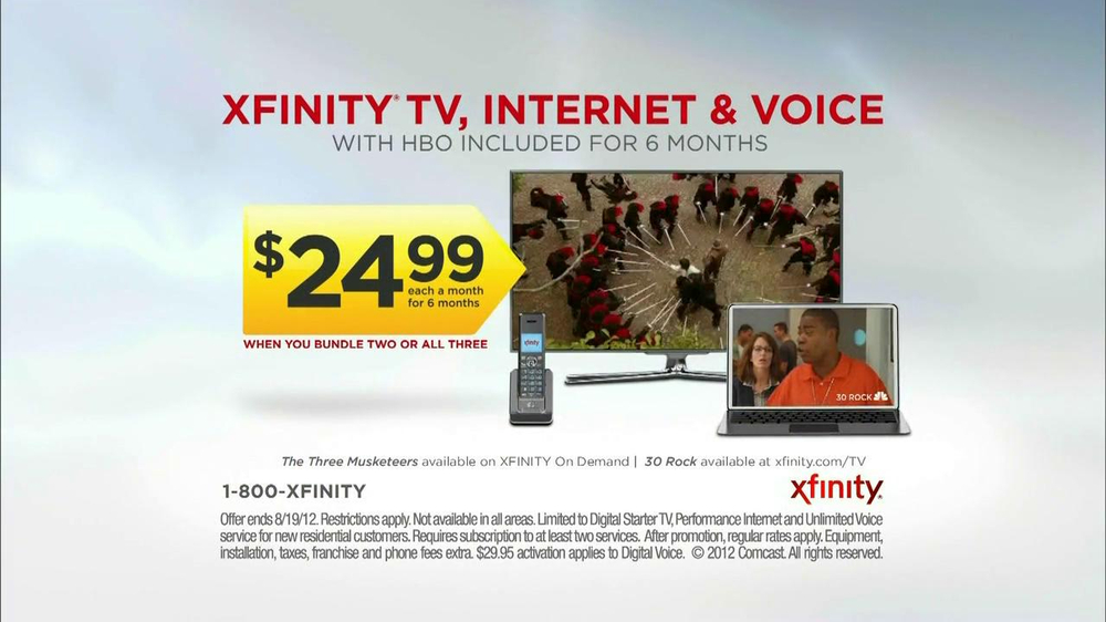 Xfinity Tv Ad XFINITY TV  Internet and Voice