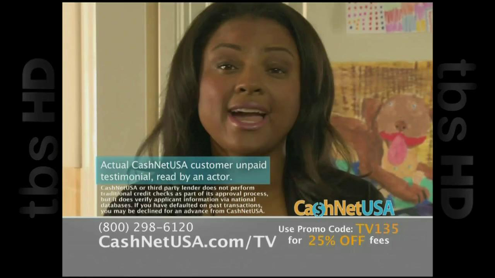 Cash Net USA TV Spot For Loans - Screenshot 1