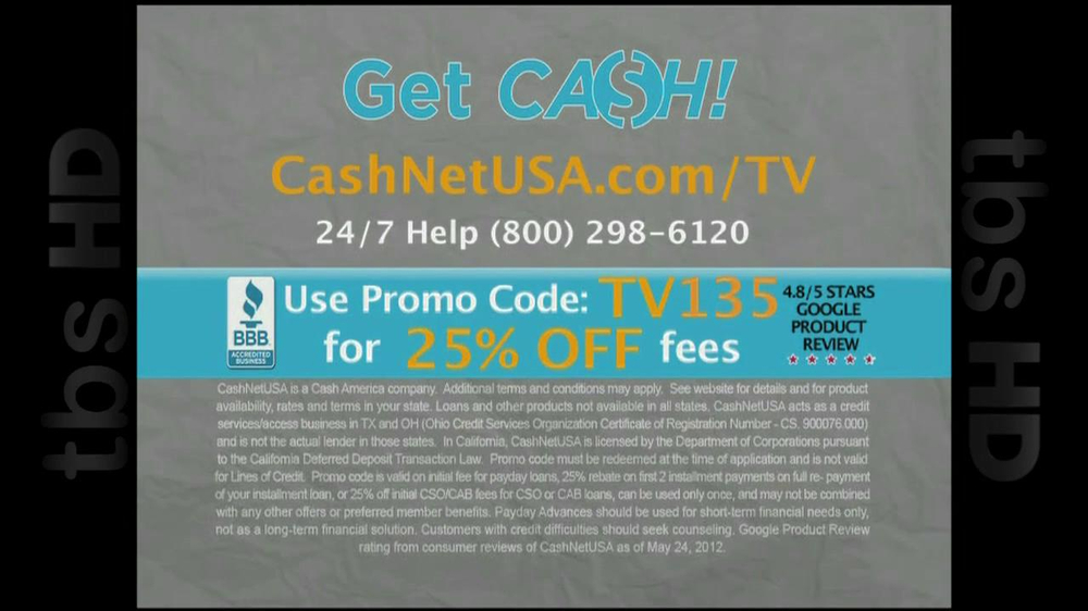 Cash Net USA TV Spot For Loans - Screenshot 10