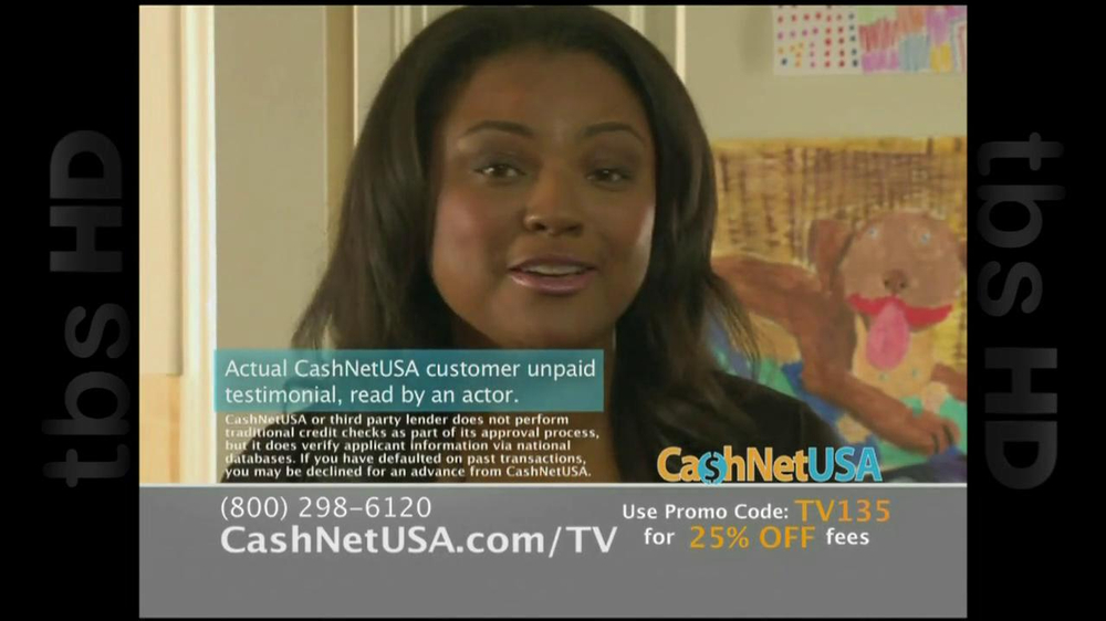 Cash Net USA TV Spot For Loans - Screenshot 2